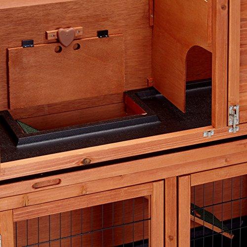 Bunny Business Stall für Kaninchen / Meerschweinchen, 2Ebenen, mit Auslauf - 5