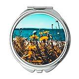 Yanteng Spiegel, Reise-Spiegel, Strandflorablumen, Taschenspiegel, tragbarer Spiegel