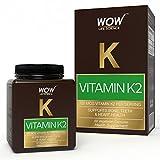 Wow Vitamin K2 100 Mcg Vegetarian Capsules - 60 Count