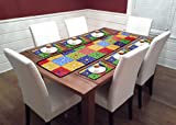 #6: Reliable Trends Table Runners with Placemats for 6 Seater Dining Table (Sunflower)