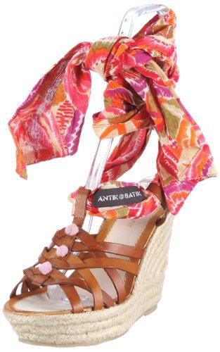Antik Batik Damen KRISTAW Fashion-Sandalen, Braun (Rust), 41 EU