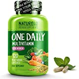 NATURELO One Daily Multivitamin for Women - Best for Hair, Skin Nails - Natural Energy Support - Whole Food Supplement - Non-GMO - No Soy - Gluten Free - 120 Capsules | 4 Month Supply