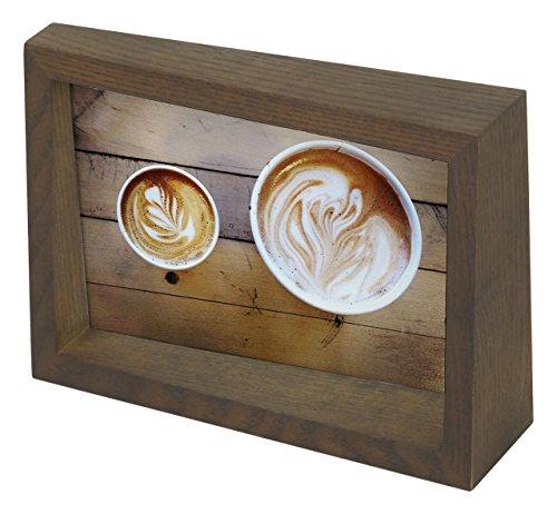UMBRA Edge Frame. Cadre photo Edge, en bois, pour 1 photo de 10x15cm. Coloris bois finition noyer.