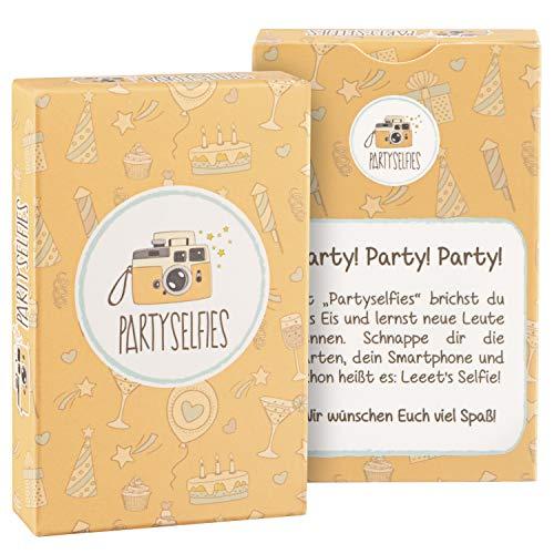 Partyselfies - Photobox war gestern, Heute Gilt: Ran an die Kameras und los - Das Selfiespiel für Gäste mit kreativen Fotoaufgaben eignet Sich super als Geburtstagsgeschenke für Gäste und Silvester (Hochzeit Karten Spielen)