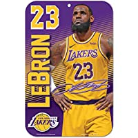 Wincraft NBA LOS Angeles Lakers - Lebron James #23 Player Sign Schild 28x43 cm