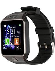 Jukkarri DZ09 Smartwatch Armbanduhr, Bluetooth-Kamera, Telefon mit SIM-Kartenslot, 2.0 Kamera und TF-Kartenunterstützung, für Android-Smartphones von Samsung, HTC, LG, Sony, Blackberry, Huawei