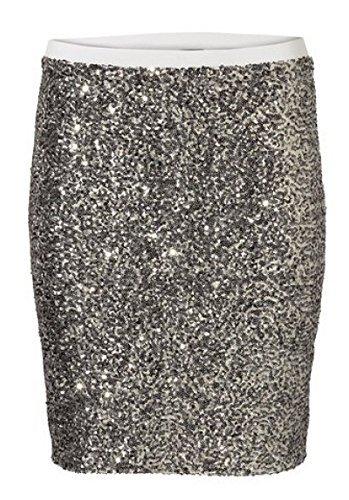 jupe jupe à paillettes de BEST CONNECTIONS de couleur bronze Métal