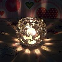 MMMM-In vetro trasparente portacandele romantica cena a lume di candela Lanterna ornamenti europea e