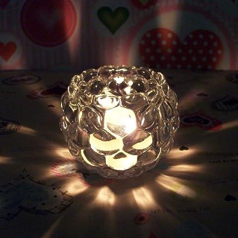 MMMM-Portavelas de vidrio transparente cena romántica con velas Linterna ornamentos europeos y artesanías,2
