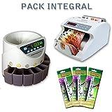 OFFRE SPECIAL : PACK INTEGRAL (Compteuse de Billets + Trieuse de Pièces + 3 Feutres détecteurs de faux billets)