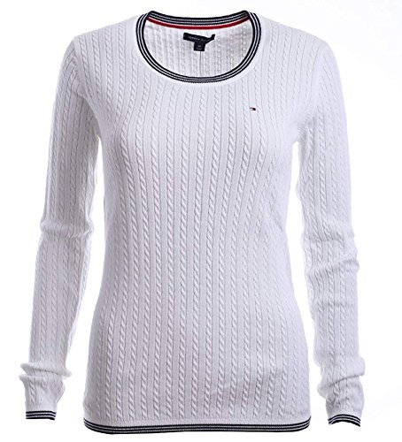 Tommy Hilfiger Cable Knit Pullover (Tommy Hilfiger Damen Pulli, Pullover, Women's Cable Knit Sweater (XL))