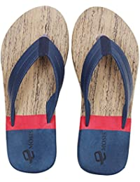 dbb83afeb9137b Emosis Men's Stylish 273 Tan Brown Black Colour Casual Daily Use Rubber  Unisex Slipper and Flip