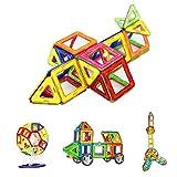 Magnetico Costruzioni, Crenova Magnetic Building Blocks 50 Pezzi educativi del bambino Immobile Costruzione giocattoli dei mattoni Ferris Wheel & sacchetto di immagazzinaggio incluso immagine