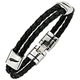 All Blacks - Bracelet Multi Rangs - Acier Inoxydable - 21 cm - 682038