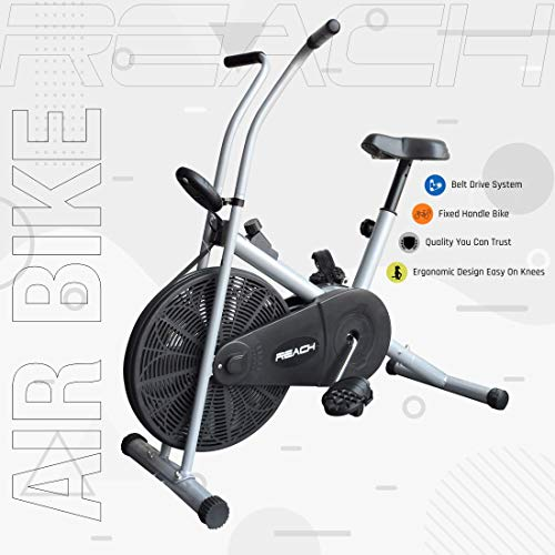 Reach Ab-90 Air Bike Exercise Fitness Cycle with Stationary Handles...