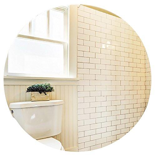 GUOWEI Spiegel Runden Hochauflösend An Der Wand Montiert Rahmenlos Badezimmer Bilden Eitelkeit 4 Größe (Farbe : Silber, größe : 60x60cm) -