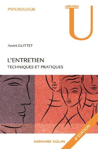 L'entretien : Techniques et pratiques par André Guittet