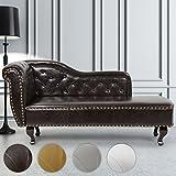 Miadomodo Chesterfield Sofa im antiken Design Chaiselongue mit Farbwahl, Echtholz-Füßen und Rautenmuster