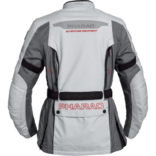 Motorradjacke Pharao Damen Reise Textiljacke 1.0 Grau