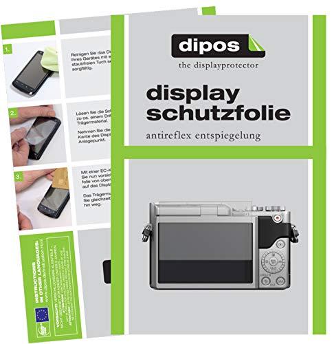 dipos I 2X Schutzfolie matt passend für Panasonic Lumix DC-GX880 Folie Displayschutzfolie