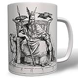 Odin Wikinger Mythologie Geschichte Gott Raben Wolf- Tasse Becher Kaffee #7730