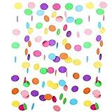 9 Meter Runde Papier Girlande Kreis Punkte Hängend Regenbogengirlande,Dekorationen für Geburtstag,Geburtstagsdeko,Kindergeburtstag Deko.Geburtstagsparty Dekoration für Mädchen und Jungen