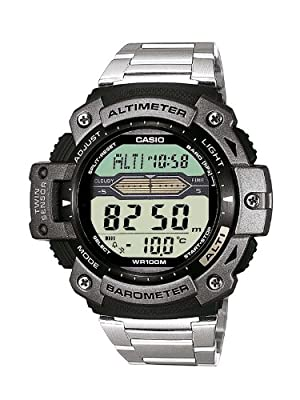 CASIO Collection SGW-300HD-1AVER de cuarzo, correa de acero inoxidable color plata