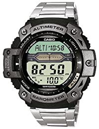 CASIO Collection SGW-300HD-1AVER - Reloj de cuarzo con correa de acero inoxidable para hombre, color plateado