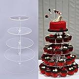 Befied 5 Stöckige Runde Tortenständer Kristallklare Acryl Nachtischständer Kuchenständer Geburtstag Hochzeit