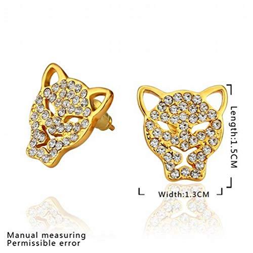 W-E Umweltfreundliche Gold Diamond Cheong Paddle Ohrringe/Edelstahl/Anti-Allergie/Silber Blinkt/Diamanten/White Crystal/Klein und Exquisit, a -