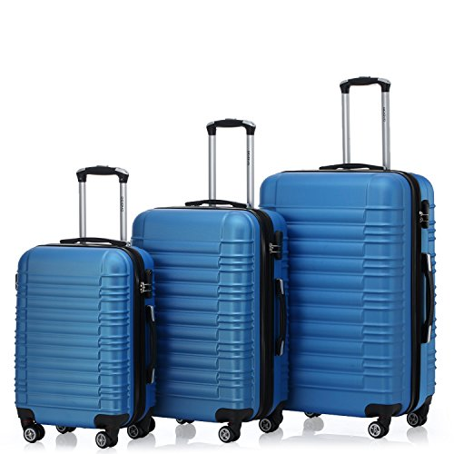 Zwillingsrollen 2088 Reisekoffer Koffer Trolleys Kofferset Reisekofferset Hartschale in 14 Farben (Türkis)