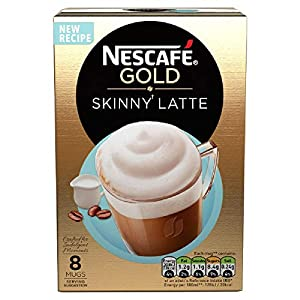 NESCAFÉ GOLD Latte Skinny Coffee, 8 Sachets, (Pack of 6, Total 48 Sachets)