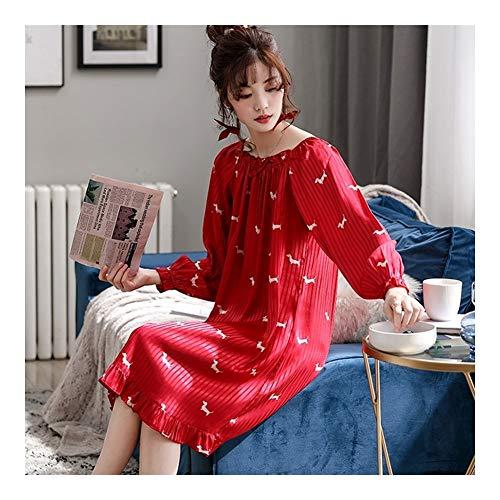 HQ-PJS Pijama De Dormir Vestido De Las Señoras De