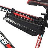 Bolsa Bicicleta MOREZONE Bolsa Triángulo Bici Material Jacquard Bolsa Tubo Bicicleta Impermeable (0.6L 25x9x4cm)