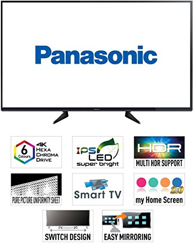 Panasonic 108 cm (43 inches) Viera TH-43EX600D 4K UHD LED TV (Black)
