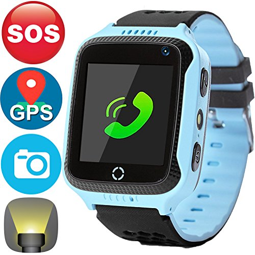Kids Smartwatch,Smart Watches for Boys Girls with GPS Tracker SOS Anti-lost Alarm Pedometer SIM Card Slot Camera Electronic Learning Toys Birthday Gifts Travel Camping