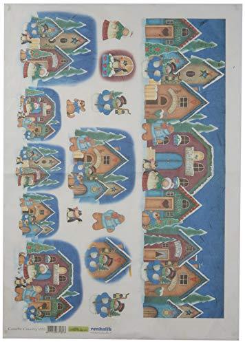 Renkalik renkalikqsipr22635x 50cm Casette país Seda impresión Hoja de Papel (Juego de)