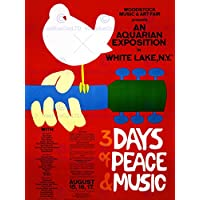 MUSIC FESTIVAL CONCERT WOODSTOCK NY PEACE DOVE LOVE LEGEND POSTER 30X40 CM 12X16 IN PRINT BB6787B by Wee Blue Coo Prints