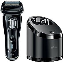 Braun Series 9 9050cc - Afeitadora (Papel aluminio, Negro, Batería / Corriente, Ión de litio, 1h, Carga, Cleaning)