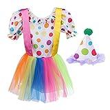 MagiDeal Disfraz de Payaso para Niñas Ropa Circo para Niñas Vestuario Tutú de Teatro Atuendo de Cumpleaños Bebé Traje de Carnaval - M