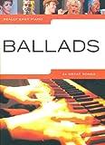 Really easy piano: BALLADS mit Bleistift -- 24 romantische Songs für Klavier sehr leicht gesetzt mit Text u.a. mit CANDLE IN THE WIND (Elton John) und FIELDS OF GOLD (Sting) - ideal für Anfänger und Wiedereinsteiger (Noten / sheet music)