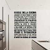 Adesiviamo 1480-L Regole della Cucina Wall Sticker Adesivo da Muro