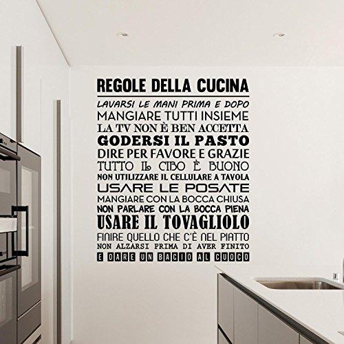 Adesiviamo 1480-M Regole della Cucina Wall Sticker Adesivo da Muro - Wall Sticker