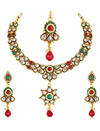 [Sponsored Products]Sukkhi - Kritika Kamra Antique Finish American Diamond Necklace Set