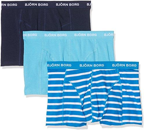 Björn Borg Herren Boxershorts 3p Shorts Bb Stripe Blue (Directoire Blue)