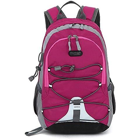 Libre Caballero 20L Nylon impermeable moda unisex con correa al aire libre mochila, rosa
