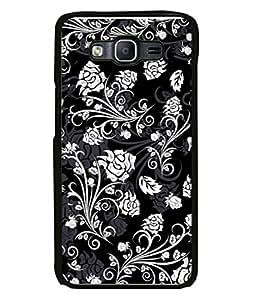 Fuson Designer Back Case Cover for Samsung Galaxy On7 Pro :: Samsung Galaxy On 7 Pro (2015) (Flowers Flowery Pattern Royal Design)