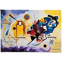 Fridolin 18854- Paño de limpieza para gafas, muselina, 18x 12,5x 1cm, diseño de Kandinsky, amarillo/rojo/azul/multicolor