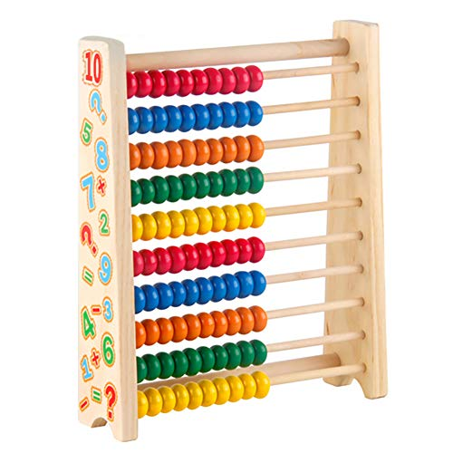 Symiu Ábaco De Madera Matematicas Aprendizaje Juego Montessori Juguetes Niños para 3...