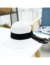 MuMa Viseras Visor Informal Turismo Costero Gorra De Protección Solar  Sombrero De Paja Plegable Sombrero Grande 1c97362e946